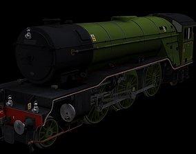 V2 Locomotive 3D asset rigged