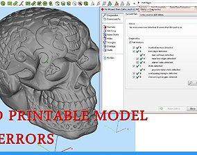 decorative 3D printable model Celtic Skull