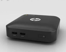 HP Chromebox Black 3D model