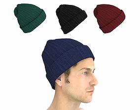 3D model game-ready Beanie Hat