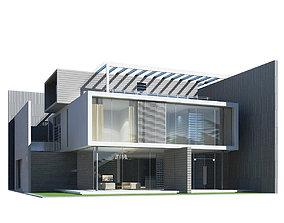 3D model Modern House residential