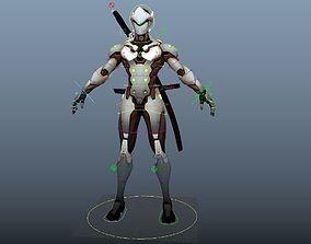 Overwatch Genji Maya rig 3D