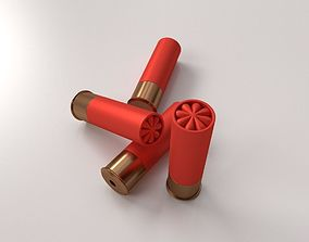 cartridge 3D model Shotgun Shells
