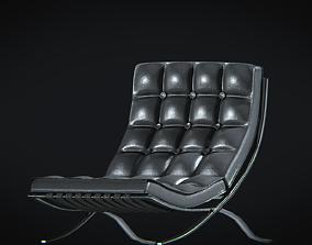 3D asset BarcelonaChair01