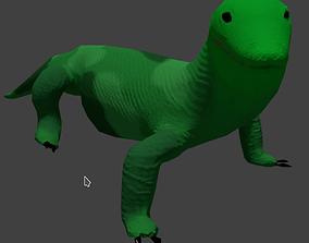 komodo dragon lizard 3D model