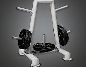 SAG - Gym Weight Holder 01 - PBR Game Ready 3D asset