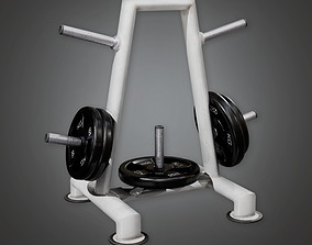 Weight Holder 01a - Sports And Gym 3D asset