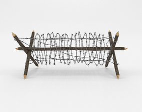 Barb Wire Obstacle obj 3D model