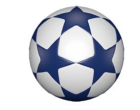 Star football ball 3D model