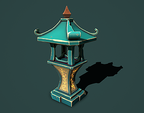 stone sanctuary 3D model realtime