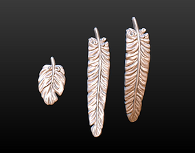 Set of Feathers 3D printable model