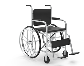 3D model medical physiotheraphy wheelchair