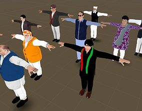 rigged 3d models Characters Pakistani Politicians