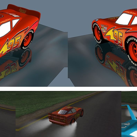 Lightning McQueen. Sketchup