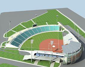 3D Baseball Stadium 01