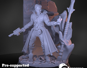 Soultorcher pre-supported modular character 3D print model