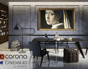 Blue Living 3DMOOD in cinema 4D and Corona ready to 1