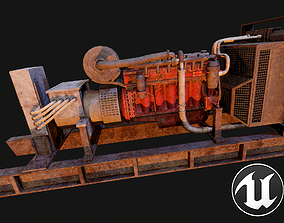3D model low-poly Electric Generator