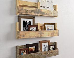 Shelf with fotos 3D model
