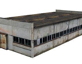 Factory Building 03 01 3D asset