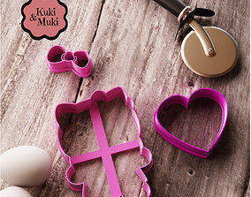 3D print model Customizable Hello Kitty Cookie Cutter