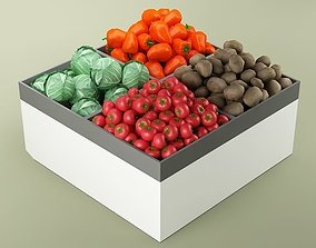 3D Store Vegetables Stand 01