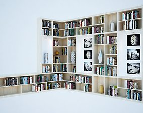 book shelves 3D asset