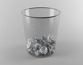 Paper Trash 3D asset