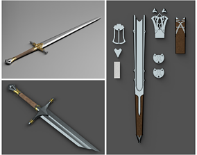 talion 3D Shadow of Mordor Swords and Scabbards