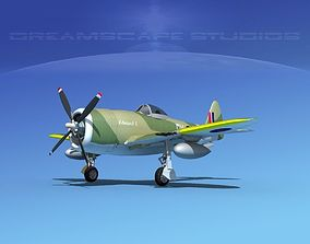 3D Republic P-47D Thunderbolt V10