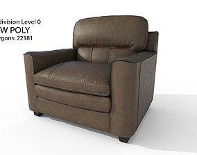 3D asset Gleason armchair sofa HI Resolution