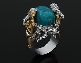 3D print model women ring fashion-ring