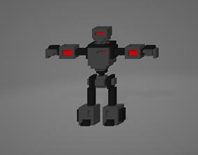 Voxel Robot 3D asset