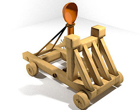 3D Medieval War Machine - Catapult