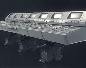 Large 3D Computer Control Panel