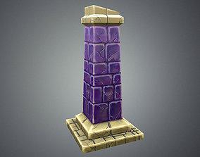 Low Poly Stylize Pillar 3D model