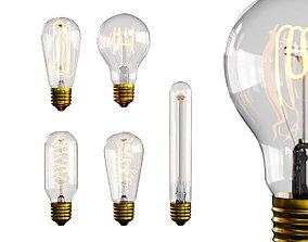 Edison Bulb light lamp interior 3D