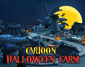Cartoon Halloween Farm 3D model