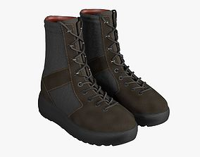 3D model west Military Boots