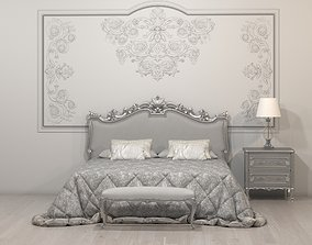 table 3D model Classic White Bed