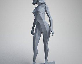 Skate woman 3D printable model