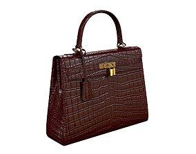 Hermes Kelly Bag Red Crocodile 3D asset
