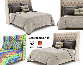 Bed collection 44 3D model