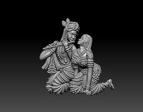 Radha Krishna Pendant 3D print model