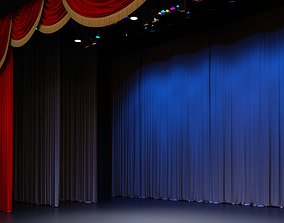 3D Theatre concert stage with ferm projectors and classic