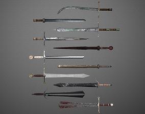 3D model Fantasy Sword Pack 001