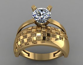 GC GOLD TW0131- Diamond ring 3D print model