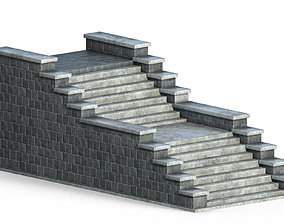 3D model Stone stairs v2