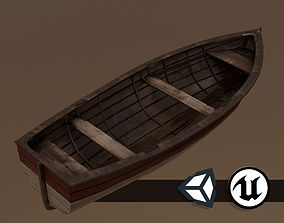 3D model Painted Wooden Boat - PBR and Game Ready
