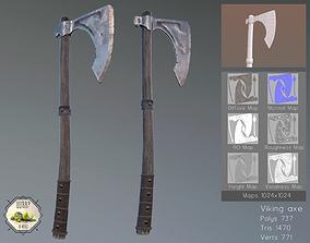 Viking Axe 3D asset